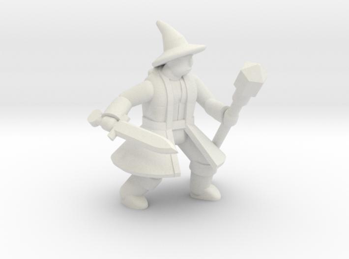 General Wizard Mini 2 (Sword and Staff) 3d printed