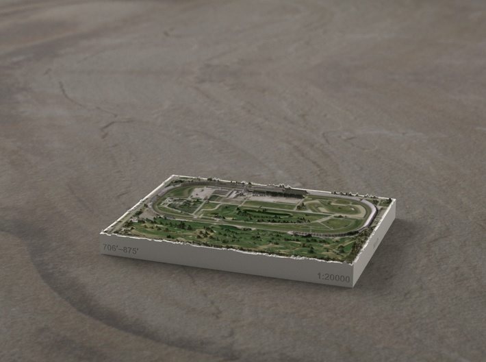 Indianapolis Motor Speedway, IN, USA, 1:20000 3d printed