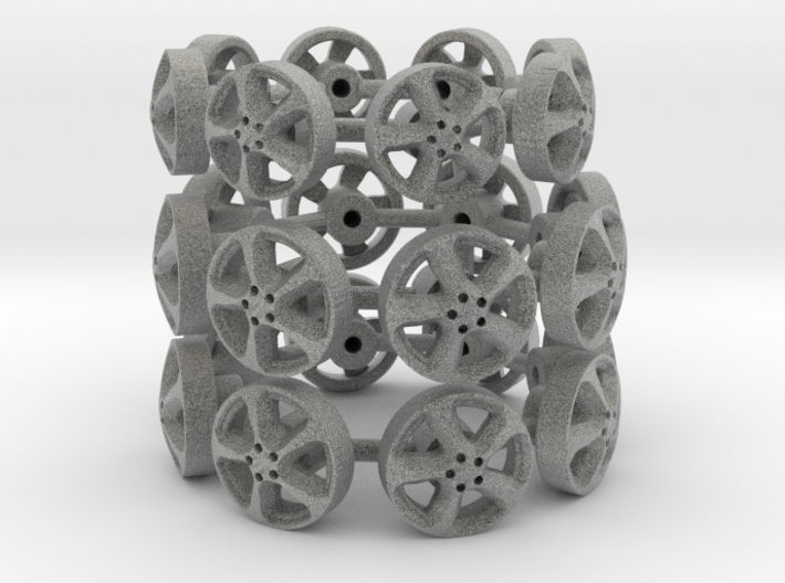 1:43 Scale model wheels 3d printed