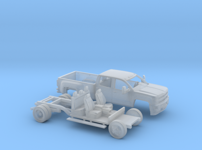 1/160 2015 Chevrolet Silverado Dually Long Bed Kit 3d printed