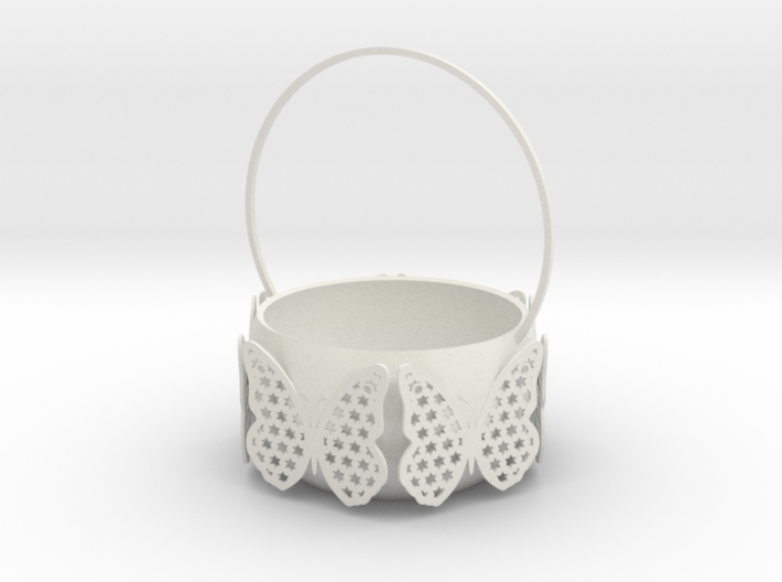 Butterfly Basket Colored 3d printed