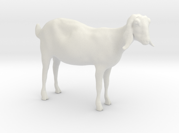 3D Scanned Nubian Goat 3cm Hollow 3d printed