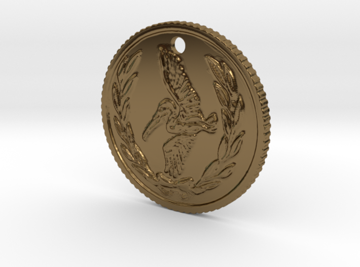 Resident evil 7 biohazard coin necklace (50cent si 3d printed