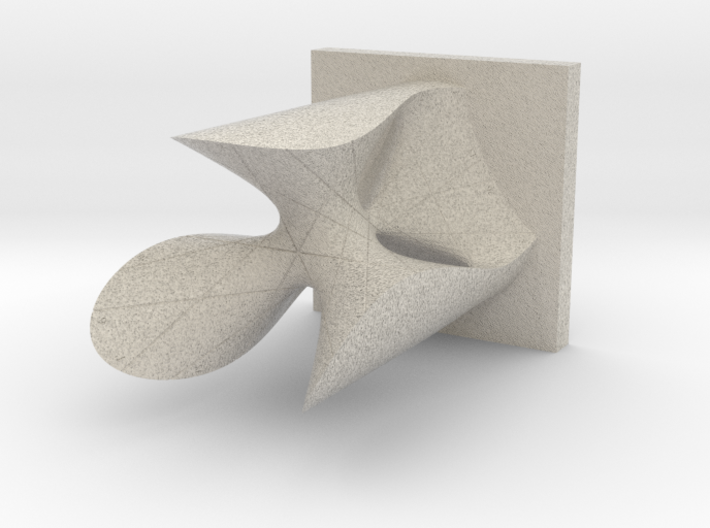 Clebsch Diagonal Cubic with Colored Numbering 3d printed