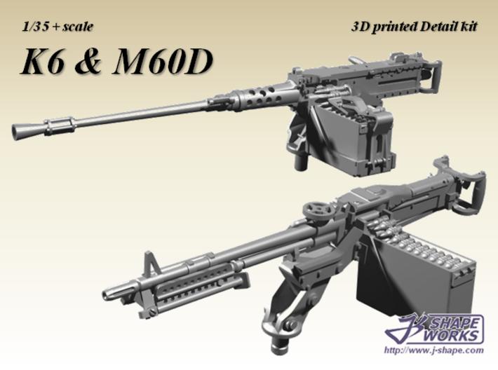 1/35+ K6 & M60D MG set 3d printed