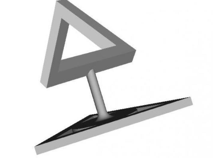 Penrose Triangle 3d printed The illusion in full effect!