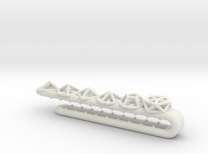 Geometric Tie Clip 3d printed