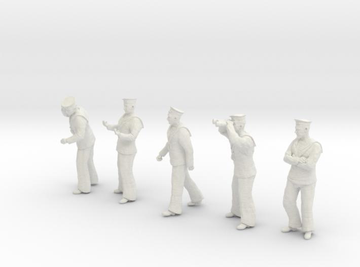 1-20 Royal Navy Sailors Set1-2 3d printed