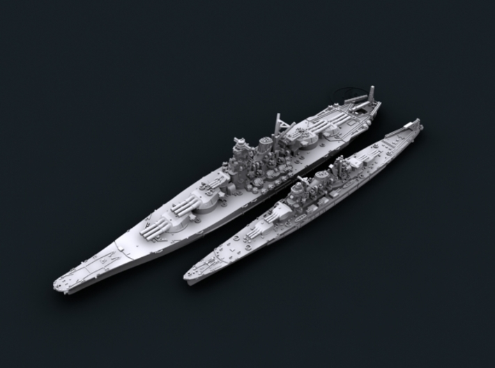 [Bundle] IJN BB A150 + CA Maru6 3d printed Computer software render