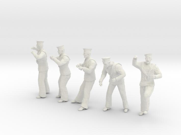 1-30 Royal Navy Sailors Set1-4 3d printed