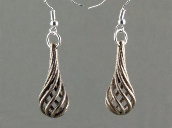 Eardrops (from $15.00) 3d printed In stainless steel