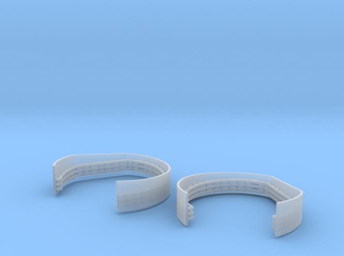 1/192 Aft Superstructure Level 2 Gun Tubs Set 3d printed