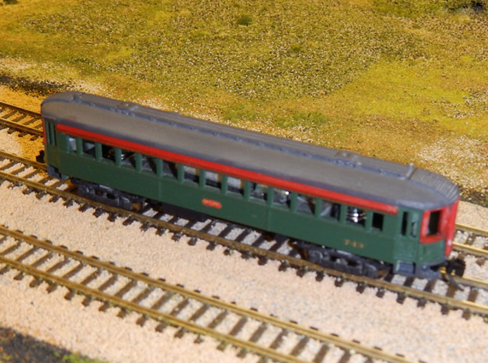 CNSM 741 - 751 series coach 3d printed Painted model