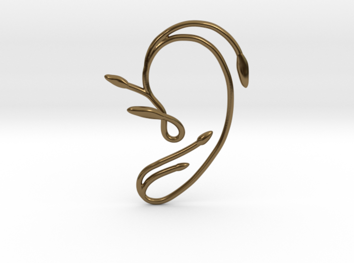Ear Cuff of Belle (Left Ear) 3d printed