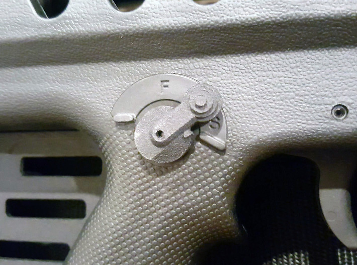 Thumbpin: Bevel base, Right-side - Tavor Safety 3d printed