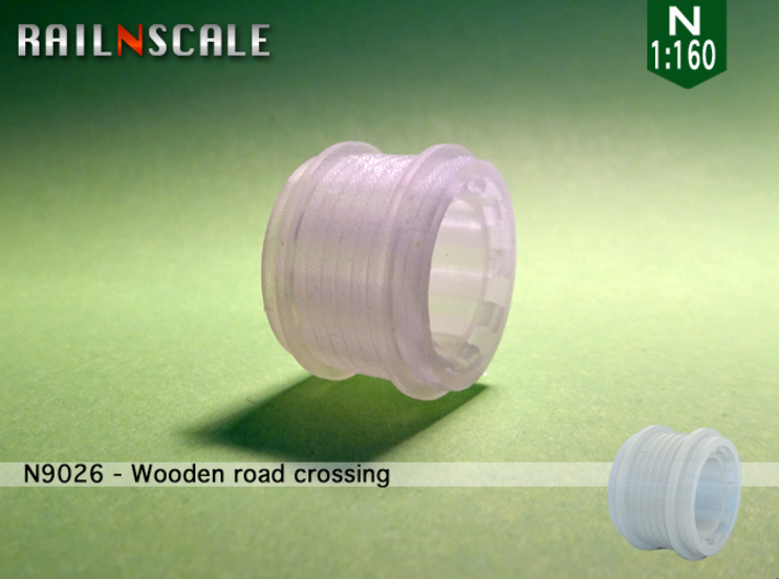 Wooden road crossing roller (N1:160) 3d printed