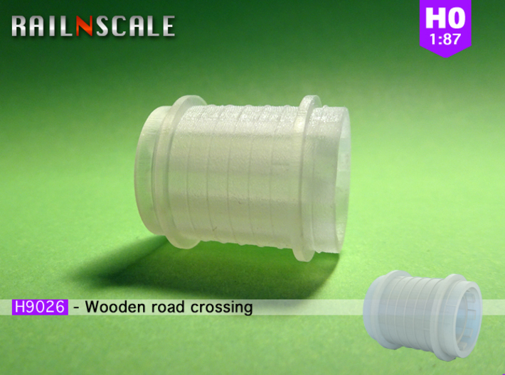 Wooden road crossing roller (H0 1:87) 3d printed
