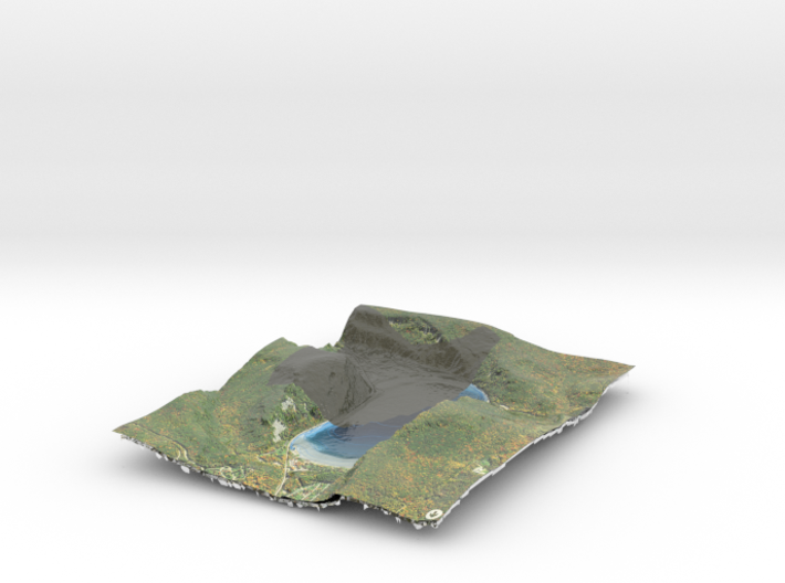 Devils Lake Map 1:12k -  Bathymetry 3d printed