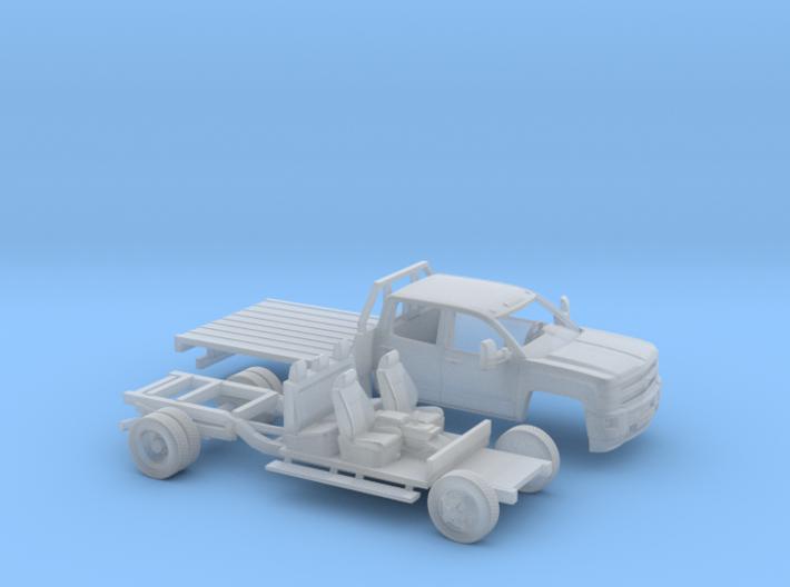1/160 2015 Chevrolet Silverado HD Flatbed Kit 3d printed