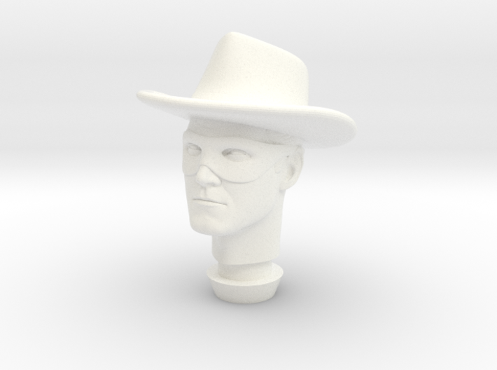 1:9 Scale Lone Ranger Head 3d printed