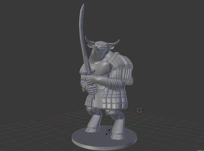 Yakfolk Warrior 3d printed