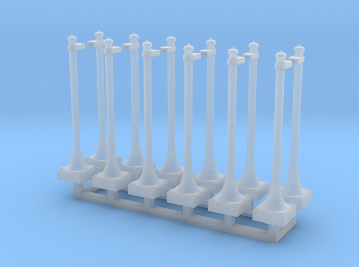 NYC - Metal Posts - (12X) - With Bracket 3d printed
