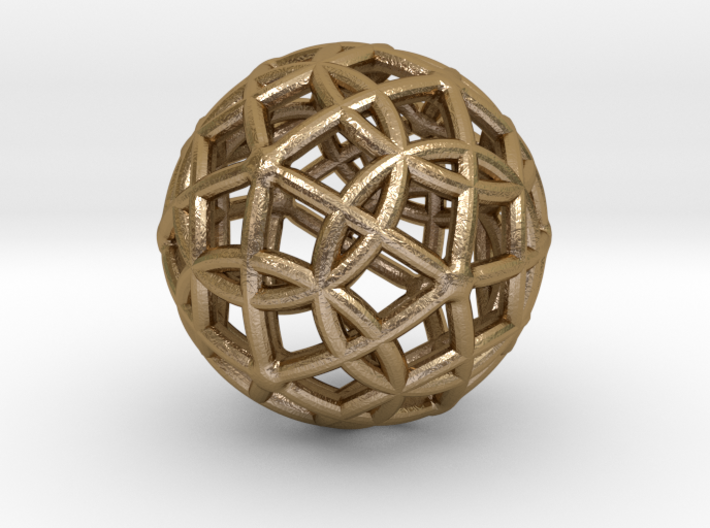"Spherical Icosahedron with Dodecasphere 1"" 3d printed"