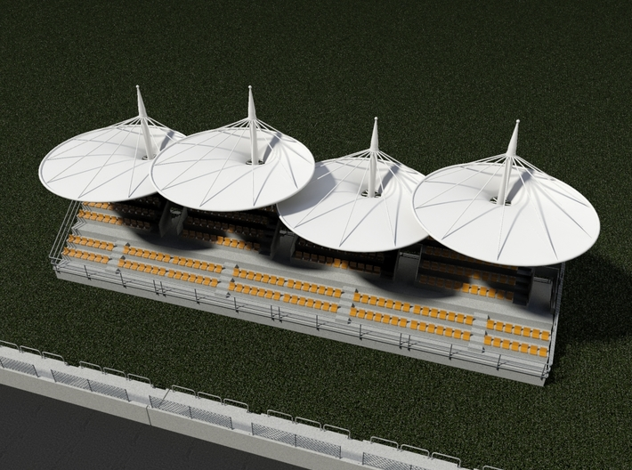 Grandstand for slot car track - Shanghai Circuit v 3d printed Grandstand 4 Modules