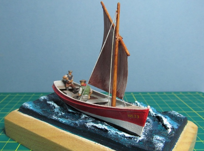 4mm Scale Fishing boat 3d printed