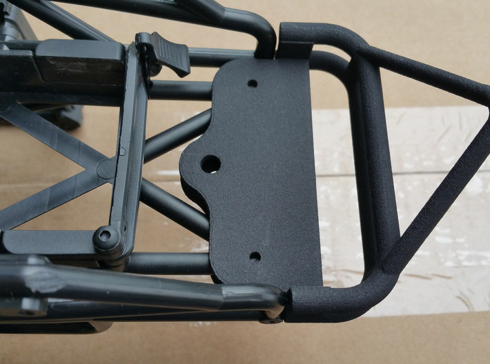 Axial SMT10 Monster Truck Rear Bumper Wheelie Bar 3d printed This is the black and flexible printed by Shapeways.