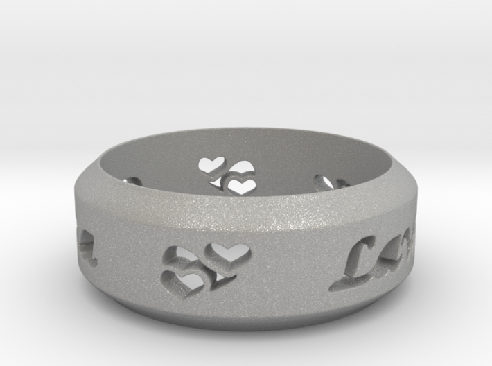 Anniversary Ring with Triple Hearts - May 7, 1990 3d printed