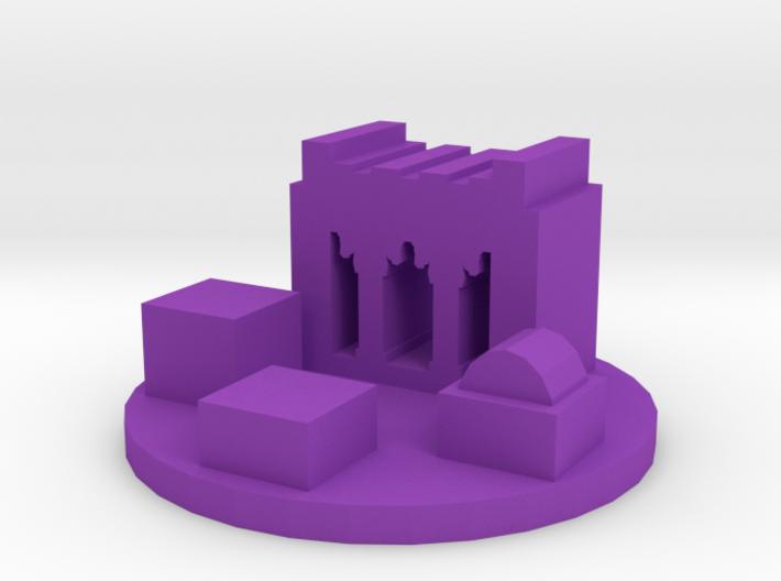 Game Piece, Ancient Persian City Token 3d printed