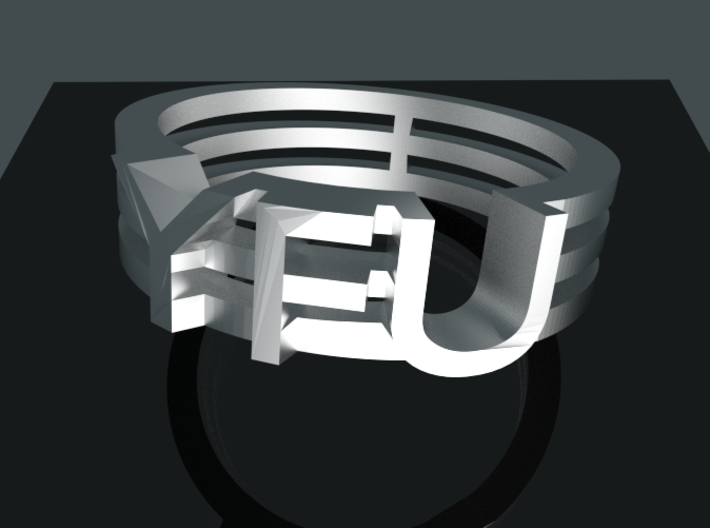 YFU Triple Wire Ring 3d printed Rendered Blender Image