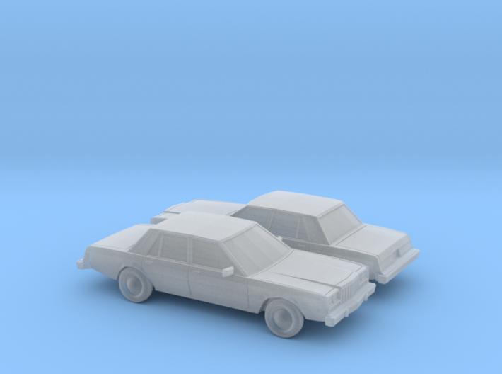 1/160 2X 1980-83 Dodge Diplomat Sedan 3d printed