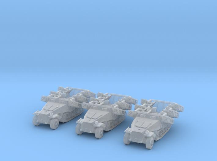 Sd.kfz 251 stuka 1/350 x3 3d printed