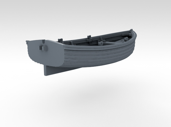 1/96 Scale Allied 10ft Dinghy 3d printed 3d render showing product detail