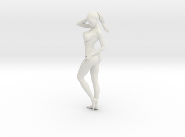 Long Ponytail Girl-032 3d printed