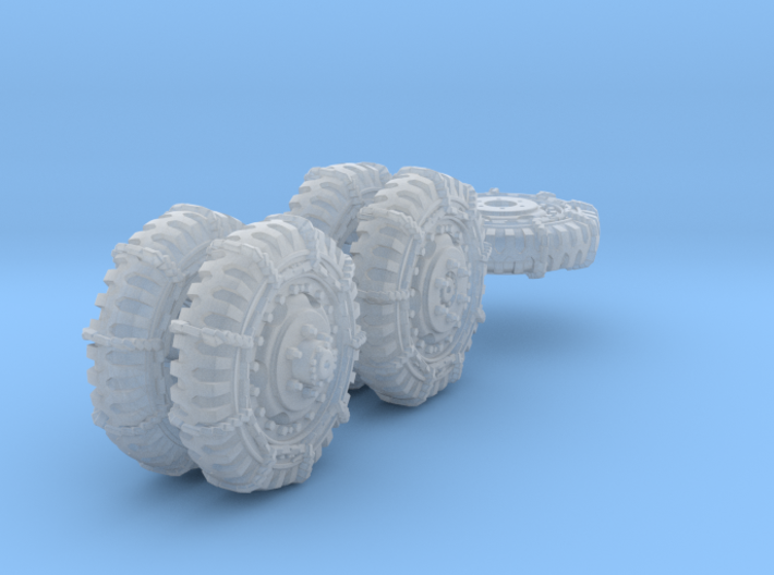 1-72 8-25x20 Late Tire Snow Chain White Scout Car  3d printed