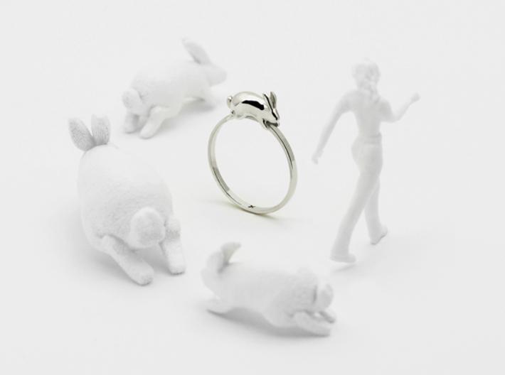 Stacking Rabbit (Playful) 3d printed