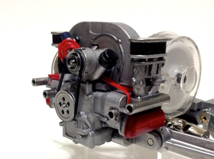 """SR20001 Mk2 SRB Main Engine Part 1 of 2 3d printed PLEASE NOTE: You will need to click """"ADD SET TO CART"""" to add all the parts required to build this engine to your cart. Exhaust needs to be added separately."""