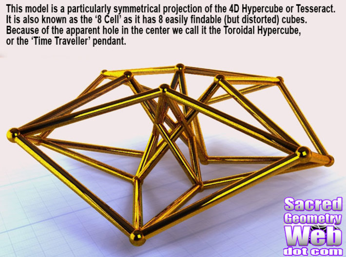 Toroidal Hypercube 80mm 1.5mm Time Traveller 3d printed Render
