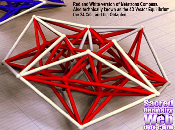Metarton's Compass 100mm - 4D Vector Equilibrium 3d printed Render