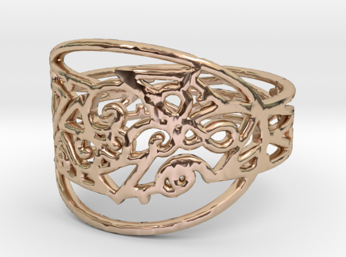 Freaky Ring Design Ring Size 7 3d printed