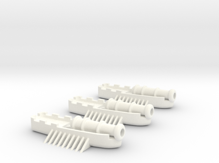 Fantasy Fleet Cannon Boats 3d printed