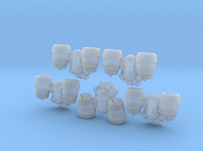 5x Base - Bantam:Jetpacks (SM) 3d printed
