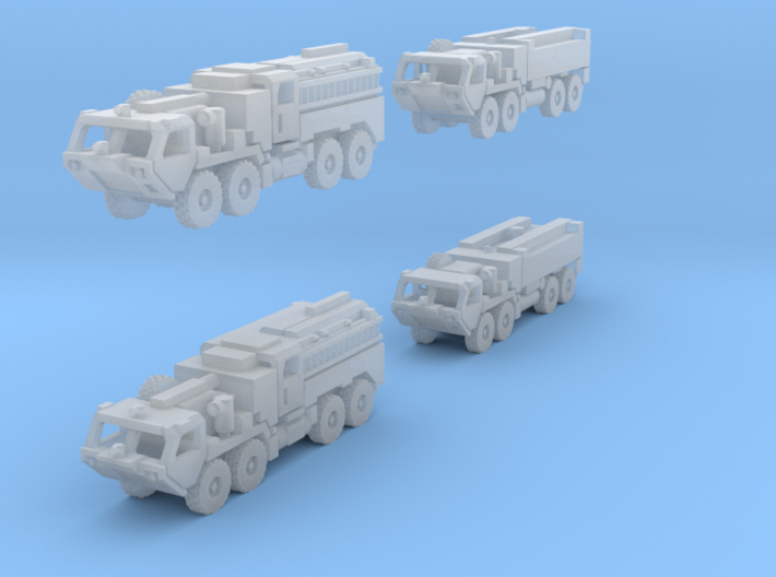 HEMTT Fire Fighting Convoy 1/350  Scale 3d printed