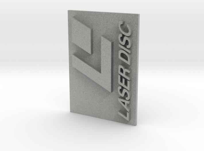 Laser Disc Logo 3d printed Metallic Plastic Classic Look.