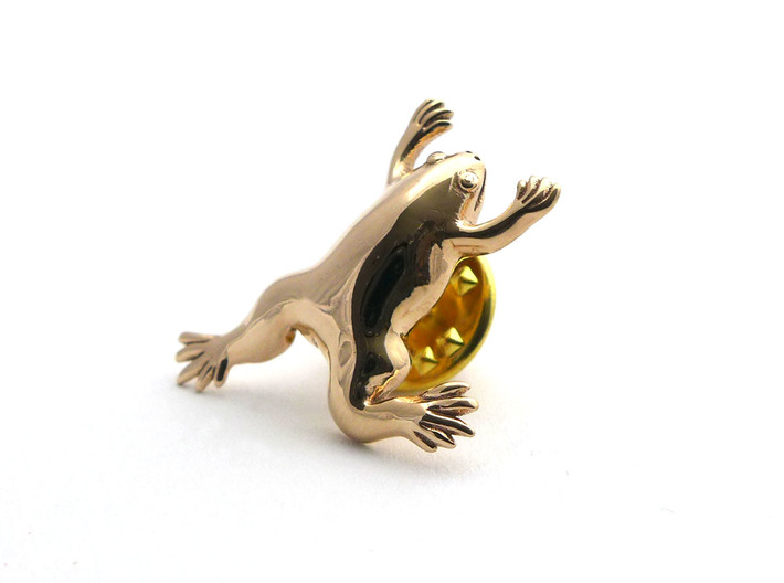 Xenopus Lapel Pin - Science Jewelry 3d printed Xenopus lapel pin (butterfly clasp not included)