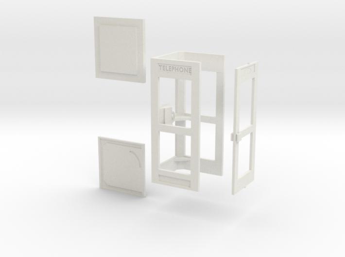 1/43 cabine téléphonique / french phone box 3d printed
