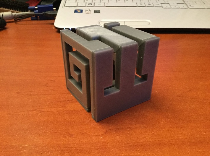 Buildable Nuva Cube Fire 1/6 3d printed Assembled Cube